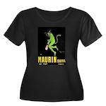 Maurin Quina Women's Plus Size Scoop Neck Dark T-S