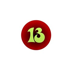 Lucky 13 Mini Button of Luckiness