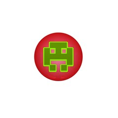 Invaders from Space Mini Button Red