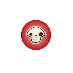 Skull Red Mini Button