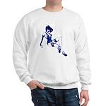 Rockabilly Pin-up Girl in Blue Sweatshirt