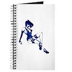 Rockabilly Pin-up Girl in Blue Journal