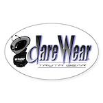 Dare Wear Oval Sticker