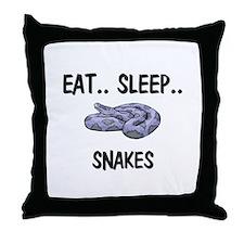 Eat ... Sleep ... SNAKES Throw Pillow