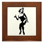 Sexy Silhouette Pin-up Framed Tile