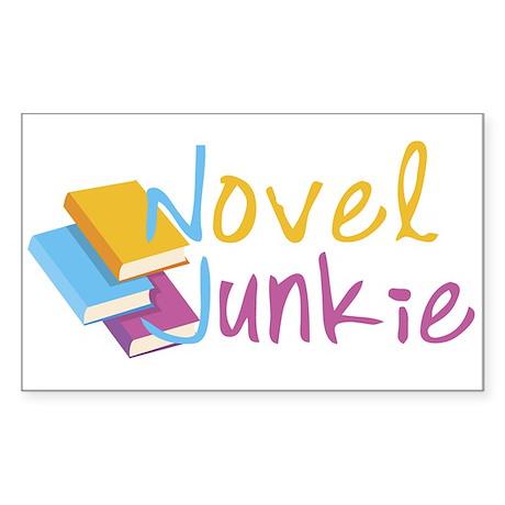 Novel Junkie Rectangle Sticker