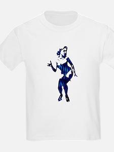 (2) Rockabilly Pin-up Girl in Blue Kids T-Shirt