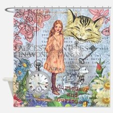 Cute Antique cat Shower Curtain