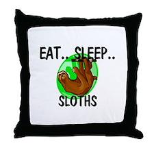 Eat ... Sleep ... SLOTHS Throw Pillow