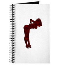 Nude Pin-up Girl Rockabilly (red 3) Journal