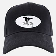 Giddy Up Black Horse Image Baseball Hat
