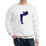 Rockabilly Nude Pin-up Girl (blue 3) Sweatshirt