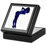 Rockabilly Nude Pin-up Girl (blue 3) Keepsake Box