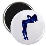 Rockabilly Nude Pin-up Girl (blue 3) 2.25