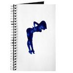 Rockabilly Nude Pin-up Girl (blue 3) Journal