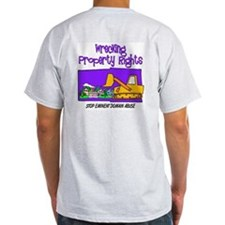 Wrecking Property Rights Ash Grey T-Shirt