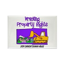 Wrecking Property Rights Rectangle Magnet
