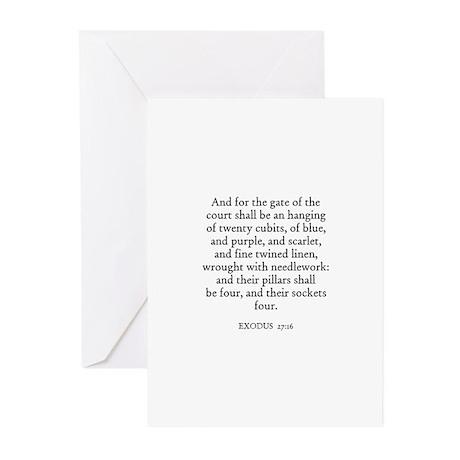 EXODUS 27:16 Greeting Cards (Pk of 10)