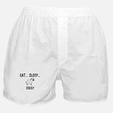 Eat ... Sleep ... SHEEP Boxer Shorts