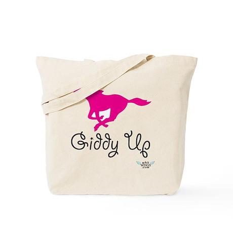 Giddy Up Pink Horse Image Tote Bag