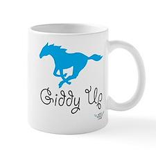 Giddy Up Blue Horse Mug