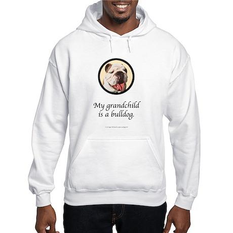 Grandchild is a Bulldog Hooded Sweatshirt