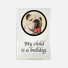 Child is a Bulldog Rectangle Magnet (100 pack)