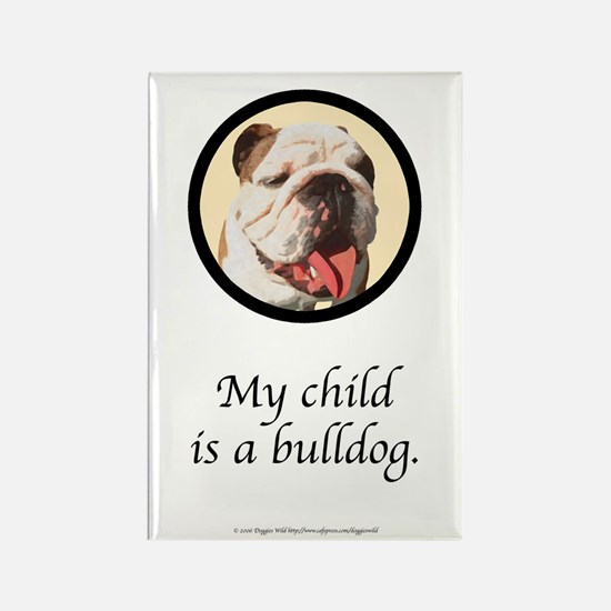 Child is a Bulldog Rectangle Magnet (10 pack)
