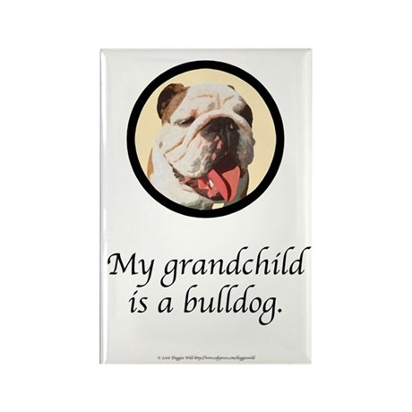 Grandchild is a Bulldog Rectangle Magnet (10 pack)