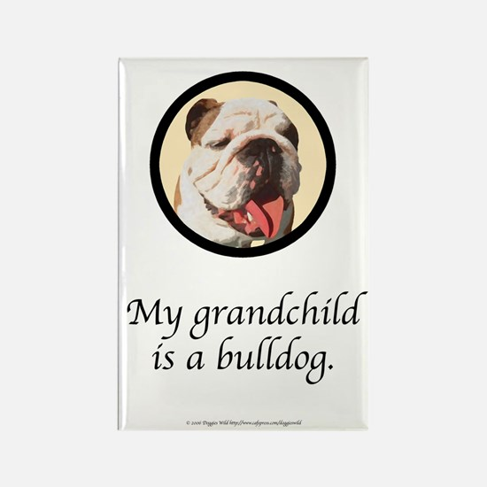 Grandchild is a Bulldog Rectangle Magnet (10 pack)