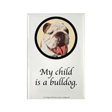 Child is a Bulldog Rectangle Magnet