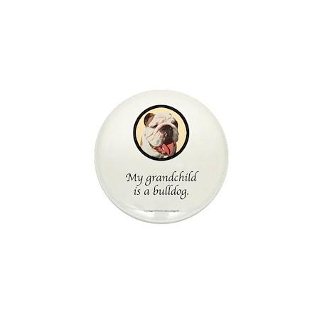 Grandchild is a Bulldog Mini Button (10 pack)