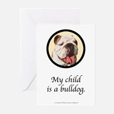 My Child is a Bulldog Greeting Cards (Package of