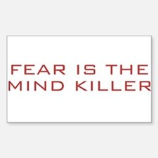 Fear Is The Mind Killer Rectangle Decal