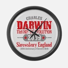Charles Darwin Large Wall Clock