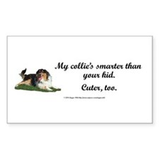 My Collie's Smarter Than Your Kid Decal
