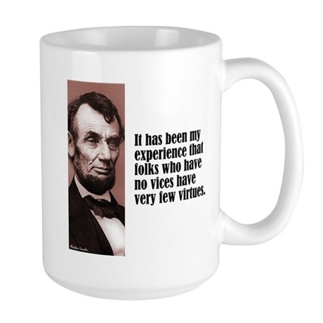 "Lincoln ""Vices & Virtues"" Large Mug"