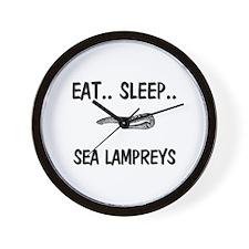 Eat ... Sleep ... SEA LAMPREYS Wall Clock