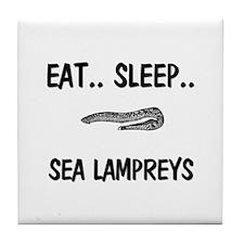 Eat ... Sleep ... SEA LAMPREYS Tile Coaster