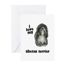 Tibetan Terrier Lover Greeting Card