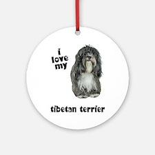 Tibetan Terrier Lover Ornament (Round)