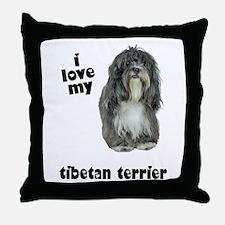 Tibetan Terrier Lover Throw Pillow