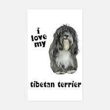 Tibetan Terrier Lover Rectangle Decal