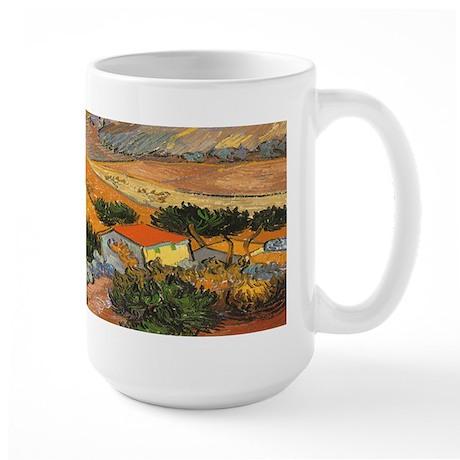 Van Gogh Valley Ploughman Large Mug