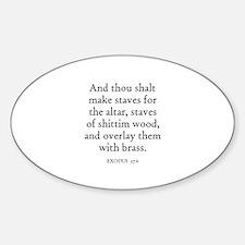 EXODUS 27:6 Oval Decal