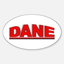 """Dane"" Oval Decal"