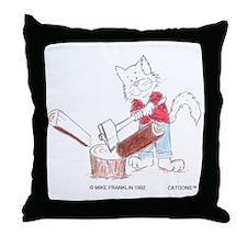 Lumberjack Cat Throw Pillow