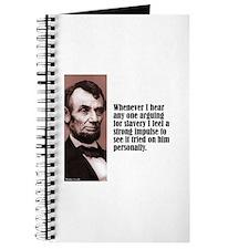 "Lincoln ""Arguing For"" Journal"