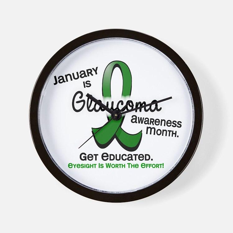 Glaucoma Awareness Month Wall Clock