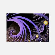 """""""Light 4"""" Fractal Art Rectangle Magnet"""